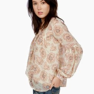 LUCKY BRAND | Pink Exploded Floral Top